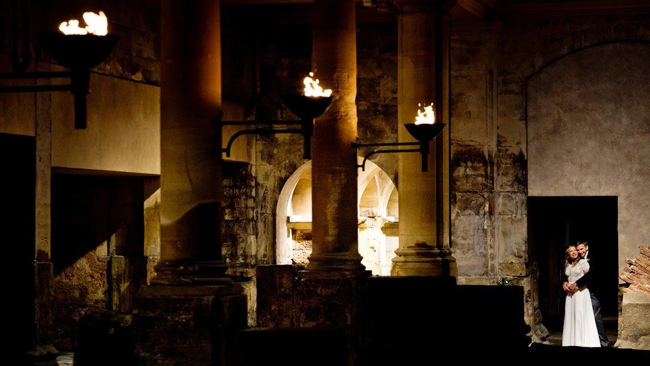 Ben & Miranda outside Roman Baths